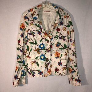Johnny Was Hummingbird Floral Embroidered Jacket